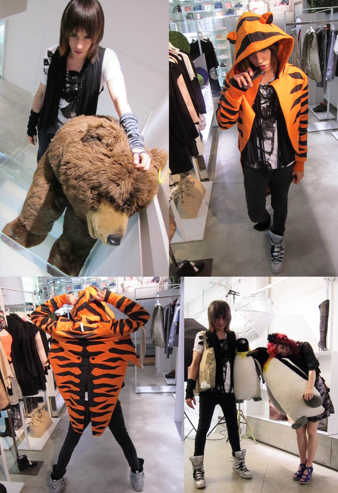 jeremy scott tiger coat, j scott tiger striped jacket, LUISAVIAROMA STYLING LAB: FIRENZE 4 EVER 3RD EDITION, COCKTAIL PARTY. FLORENCE BOUTIQUE, TOP FASHION BLOGGERS. FIRENZE4EVER, LUISA VIA ROMA STYLE BLOGGER EVENT IN FLORENCE, ITALY. worldwide shipping luxury designer clothes, fall winter women's collections, LUISAVIAROMA TOP FASHION BLOGGERS EVENT IN FLORENCE, ITALY. BRYANBOY, NITROLICIOUS, STYLE BLOGS. LA CARMINA, la carminia, japanese street style,  sourpuss bat dress, sour puss clothing, goth style, red hair curls, gothic makeup, Firenze 4Ever III, june 2011, famous style bloggers, blog conference, europe, luisa via roma, nitro licious, chiara ferragni, the blonde salad, bryan boy, wendy hung