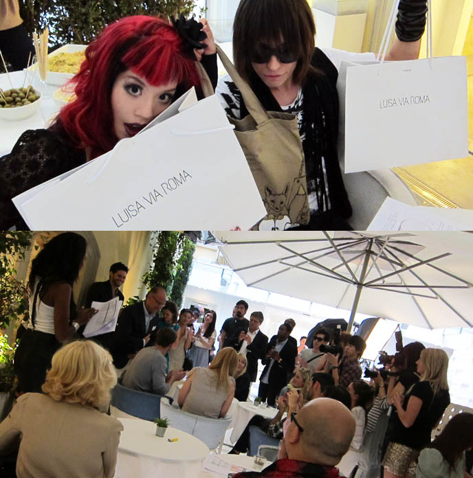 LUISAVIAROMA STYLING LAB: FIRENZE 4 EVER 3RD EDITION, COCKTAIL PARTY. FLORENCE BOUTIQUE, TOP FASHION BLOGGERS. FIRENZE4EVER, COCKTAIL PARTY, OPENING EVENT, LUISA VIA ROMA STYLE BLOGGER EVENT IN FLORENCE, ITALY. worldwide shipping luxury designer clothes, fall winter women's collections, LUISAVIAROMA TOP FASHION BLOGGERS EVENT IN FLORENCE, ITALY. BRYANBOY, NITROLICIOUS, STYLE BLOGS. LA CARMINA, la carminia, japanese street style,  sourpuss bat dress, sour puss clothing, goth style, red hair curls, gothic makeup, Firenze 4Ever III, june 2011, famous style bloggers, blog conference, europe, luisa via roma, nitro licious, chiara ferragni, the blonde salad, bryan boy, wendy LAM