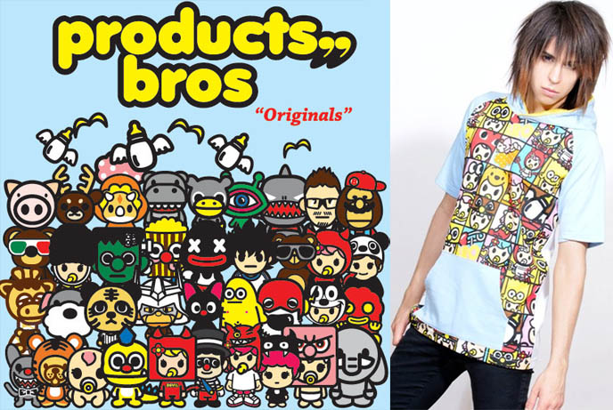 Character Design Hong Kong : Bros products hong kong colorful streetwear brand asia