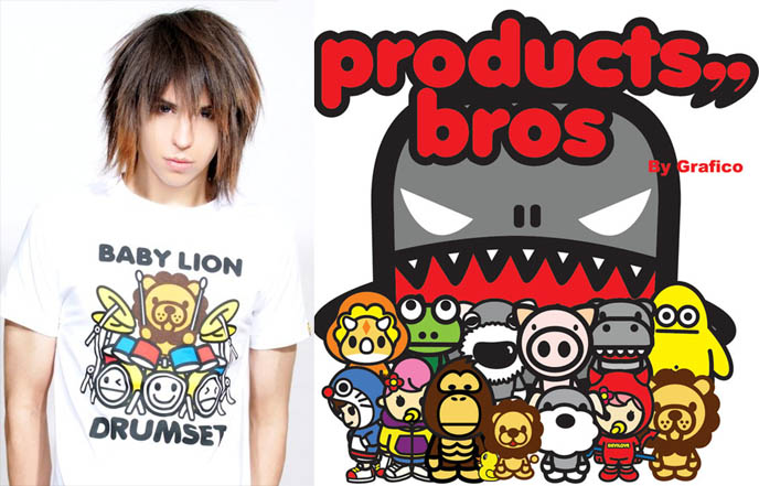 BROS PRODUCTS, HONG KONG COLORFUL STREETWEAR BRAND. ASIA URBAN CLOTHING, CUTE KAWAII CHARACTER DESIGN. A Bros Products, A Bros Products Originals, baby lion, rennie, Baby rinnie, Baby Lion, a bathing ape monkey, bape, urban fashion for sale, buy japan street wear, hong kong hipsters, sanrio, cute backpacks, hoodies, t-shirts for kids