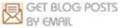 Get posts in inbox by email, envelope mail icon and logo for blogs Feedburner Google