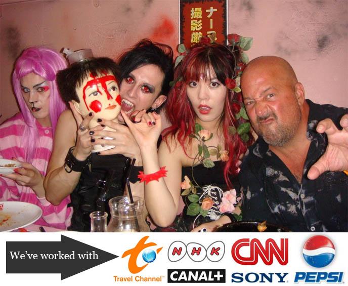 andrew zimmern bizarre foods tokyo, tv host japan, travel channel arranger fixer